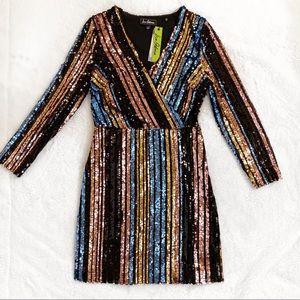 Sam Edelman Sequin Striped Sheath Dress NWT